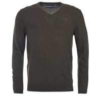 Barbour Essential Lambswool V Neck - Seaweed